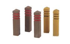 1/35 Scale model kit Wooden Road Bollards (5 pcs.) Each bollard is 2,7cm high