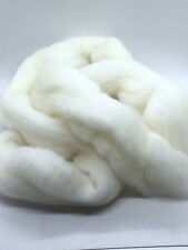 1 lb POUND Natural White Wool Top Roving Fiber Spin, Felt Crafts HIGH QUALITY !