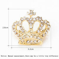 New Women Crown Crystal Rhinestone Shiny Imperial Pin Brooch Jewelry Gift