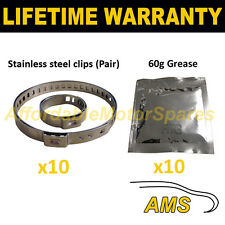 CV BOOT CLAMPS PAIR INNER & OUTER x10 CV GREASE x10 GARAGE TRADE PACK KIT 2.10
