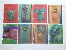 Disney Pixar MONSTERS, INC. Set of 8  Collectible Lenticular Postcards