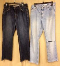 lot of 2 WOMENS TOMMY HILFIGER CLASSIC JEANS 33 X 30.5 GAP ORIGINAL BOOT PANTS #