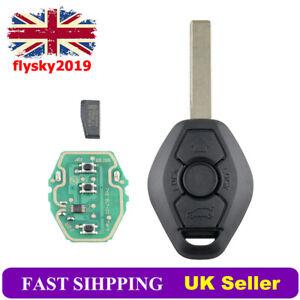 EWS For BMW E46 E39 3 5 7 Series X5 3 Button 433MHz Remote Key Fob PCF7935 Chip