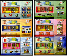 Philippine 2004 FILIPINAS Exhibition Stamp on Stamp 6 S/S cpt set mint NH