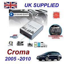 Fiat croma MP3 sd usb cd aux entrée adaptateur audio numérique changeur cd module