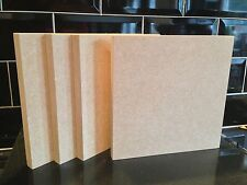 Hi Quality MEDITE MDF 18mm Freestanding Blank Wooden Plaque Blocks signs 8x8""