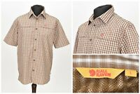 Mens Fjallraven Equipment Short Sleeve Shirt Check Short Sleeve Button Size L