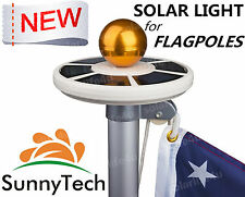Sunnytech 2018 New 2ND Generation-Solar Flag Pole Flagpole 20LED Light S