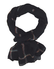 Bufanda hombre negro rayas de colores Ella Jonte LIGERO NEGRO bufanda viscosa