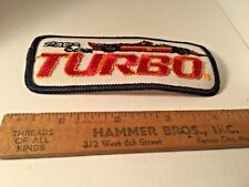 Sega Turbo 1981 Embroidered Video Emblem Patch  AUTO RACING CAR 4 INCH