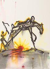 Salvador Dali - The Horse of Labor (signed lithograph, 1983)