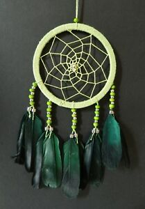 STUNNING GREEN DREAM CATCHER GIRLS BOYS BEDROOM 11cm ACROSS DREAMCATCHER