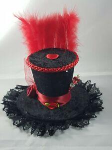 Mad Hatter Alice wonderland Queen of Hearts Mini Top Hat Fancy Dress Halloween