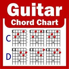 Acoustic / Electric Guitar Chord Chart - NEW - A4