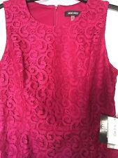 Nine West Women's Size 10 Sleeveless Princess Seam Flared Dress Red