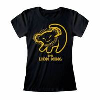 Women's Lion King Simba Silhouette Black Fitted T-Shirt