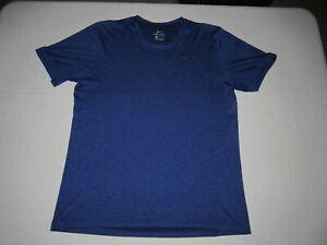 Nike Men's Dri-Fit Blue Short Sleeve Athletic Shirt Size L