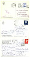 NEDERLAND S.M.N. 1959/67  3 x PPC = M.S. JOHAN VAN OLDEBARNEVELD =POSTAGENT F/VF