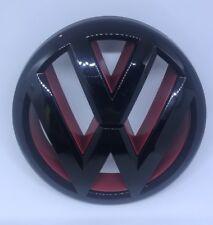 10-14 VW MK6 GOLF/GTI/JETTA SPORTWAGEN FRONT GRILLE EMBLEM - Gloss Black/red