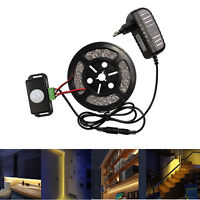5050  Warm White LED Strip with PIR Infrared Motion Sensor Detector Bed Lighting