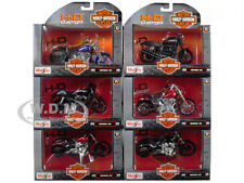 6PC HARLEY DAVIDSON MOTORCYCLE SET SERIES 35 1/18 DIECAST BY MAISTO 31360-35