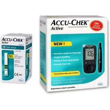 Accu-Chek Active Blood Glucose Meter Sugar Monitoring System Kit With 10 Strips