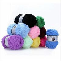 9 colors Soft Bamboo Crochet Cotton  Baby / Kids Knitting Wool Thick Yarn