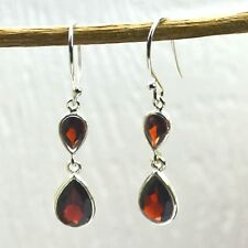 Natural garnet gemstone hanging earrings Jewelry 2.46 gms 925 Sterling Silver