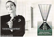 Publicité Advertising 1988 (2 pages) Cristal d'Arques Verre Pyramide