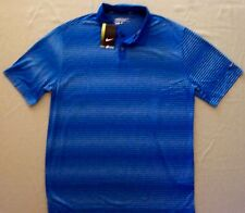 Nike Golf mens $65 Dri Fit Stay Cool SS Polo Shirt $6778438  Blue-White sz L #40