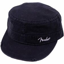 Genuine Fender Guitars Logo Black Military Hat/Cap - L/XL
