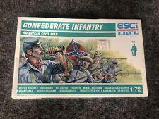 Vintage ESCI ERTL P223 - 1/72 Scale Civil War Confederate Infantry New & Sealed