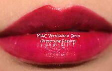 M·A·C Versicolour Stain Liquid Lip Gloss Lipgloss Preserving Passion Deep Wine
