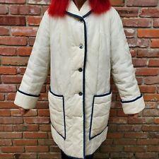 White Bear of St Paul Euc Vtg Full Length White Quilted Coat Women's Small