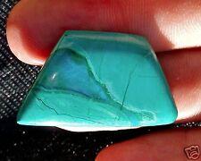 Malachite Cabochon with Gem Silicia Vein 6.7 Grams - 33.9 Carats Bisbee Arizona