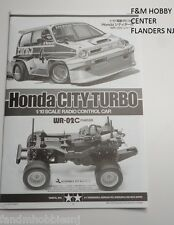 New! Tamiya Honda City Turbo Assembly Instruction Manual - New From Kit 1053968
