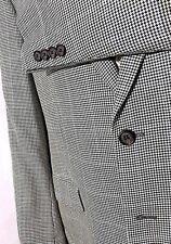 Ralph Lauren Sport Coat Jacket Men's 46L Long Silk Houndstooth Windowpane Gray
