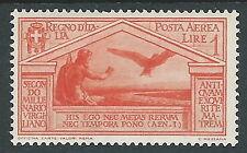1930 REGNO POSTA AEREA VIRGILIO 1 LIRA MH * - Y110