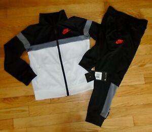 shelikes Kids HNL Contrast Tracksuit Colour Block Boys Hooded Joggers Bottoms Size Grey//Black 11//12 Years