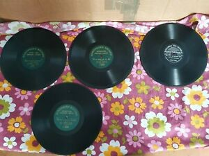 """4 x Single sided Zonophone / Columbia. 78 rpm GRAMOPHONE RECORDS 10"""""""