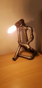 Ideal present steampunk rustic quirky ppipe lamp industrial