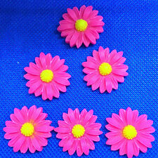 10pcs rose 21mm Daisy Resin Flatback Cabochon ScrapbookIng for phone/craft  @1