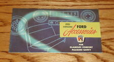 1951 Ford Accessories Brochure 51 Custom Deluxe Crestliner Country Squire