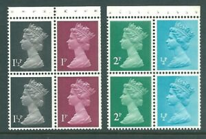 GB 1971 QE2 MNH Booklet Panes mixed values