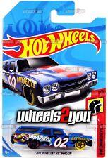 70 CHEVELLE SS WAGON blue - 2018 Hot Wheels - E Case - Worldwide