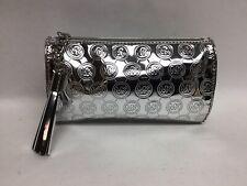 New! Michael Kors Metallic Limited Edition Tassel Signature Cosmetic Makeup Bag