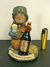 More details for vintage miniature guinness bottle with leprechaun & blarney stone stand