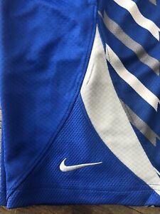 NWT NIKE BOYS DRI-FIT AVALANCHE BLUE BASKETBALL SHORTS SIZE M (10-12) 832513