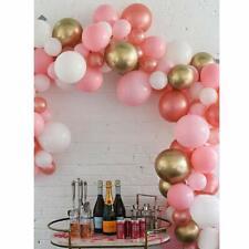 DIY Balloon Garland Kit Rose Gold Pink White Party Decoration