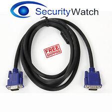 1.5M VGA SVGA Monitor Cable LCD PC Male to Male D SUB 15 PIN Free Irish Delivery